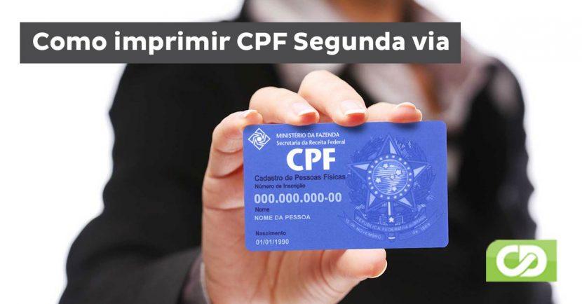como imprimir cpf segunda via